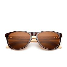 novo de madeira de bambu óculos de sol pernas de plástico homens e mulheres que montam óculos de sol