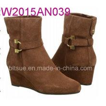 Vough Color Wedge Heel Skidproof Stiefel für Frauen