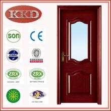 Europa diseña vidrio insertado madera puerta MD-512 para cocina