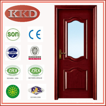 Европе дизайн стекла вставлены деревянные двери MD-512 для кухни
