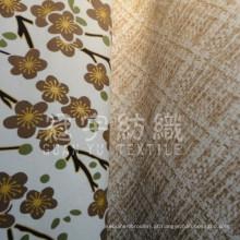 Tecido decorativo para casa de poliéster de camurça faux folheada