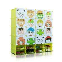 Armarios plásticos del almacenaje de la historieta DIY con los gabinetes del zapato (ZH001-10)