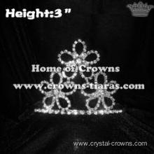 Spring Colorful Flower Clovers Crystal Pageant Crowns
