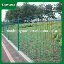 Забор из проволочной сетки с ПВХ / двусторонний забор