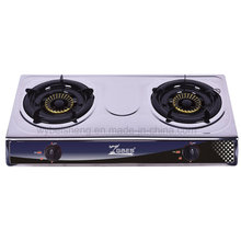 Classic Double Burner Gas Stove, Stainless Steel Material