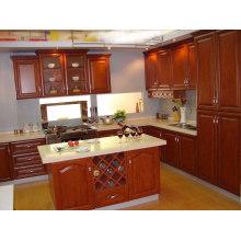 Devon Raised (Creme) Gabinete de cozinha de madeira maciça
