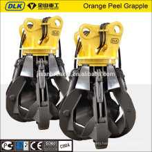 Excavator hydraulic scrap grapple, orange peel grapple for VOLVO excavator