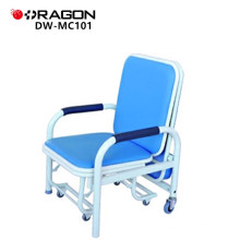 DW-MC101 Patient salle pliante accompagner chaise pour l'hôpital