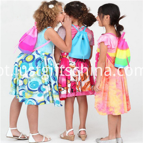Promotional Candy Colors Silicone Backpack Bag for Kids3