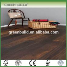 Plancher en bois de chêne stratifié durable de noir de 12mm léger