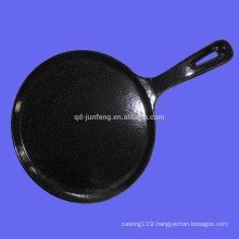 Customized enamel cast iron fry pan