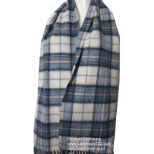 Lenço tecido azul marfim de lã macia 100% tecido
