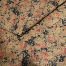 Retrostyle Printing Suede Fabrics for Garment