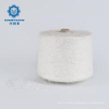 AA grade Full dull White 13NM/1.3CM 100%Nylon Soft fancy imitate mink yarn for knit Sweater