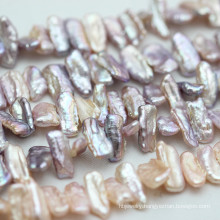 Multi-Color Natural Freshwater Baroque Cultured Pearl Strands (E190021)
