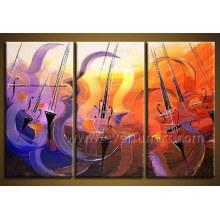 Peinture à l'huile abstraite encadrée artisanale (XD3-210)