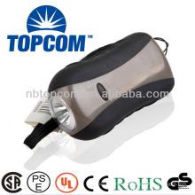 1 led de manivela de dínamo con linterna de plástico TP-PH003