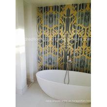 Padrão de mosaico de parede de mosaico de vidro de design de fundo (HMP853)