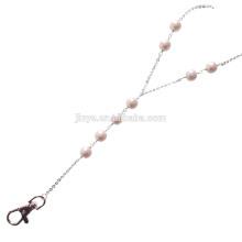Longe de perle de Sundysh, lanière perlée blanche de perle de lasso simple de mode pour le support d'insigne de carte d'identité