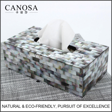 Black Mother of Pearl Handmade Tissue Box