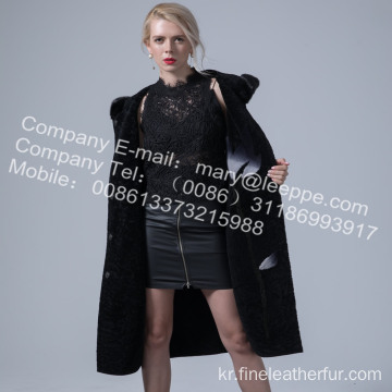 호주 메리노 Shearling Overcoat for Women
