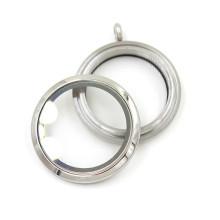 Popular 30 milímetros de prata pingente de vidro pingentes colar pingente