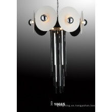 Vidrio de acero de carbono y de cuero luz colgante luz de suspensión (1066S)