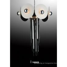 Aço de carbono de vidro e luz de suspensão de luz de pingente de couro (1066S)