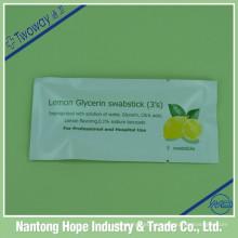 Swabstick de glicerina de limão