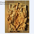 European style  handmade wall hanging carved  wood wall paneling in China