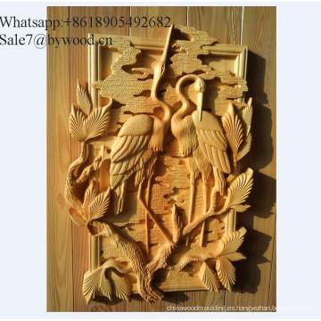 Colgante de pared hecho a mano tradicional Paneles de pared de madera tallada