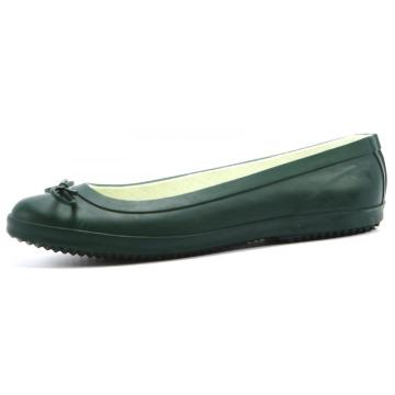 Dark Green Boat shoes Style Rubber Rain Boots