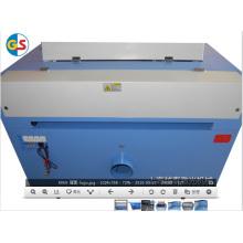 Fábrica de suministro de CO2 tubo de vidrio mini máquina de grabado láser (GS9060) con alta velocidad de corte