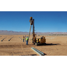 Hydraulic photovoltaic installation solar pile driver