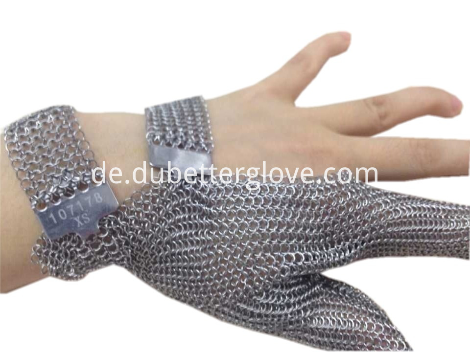 Dubetter-two-finger-chain-mail-metal-mesh glove