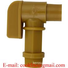 "3/4"" BSP Thread Polyethylene Barrel Faucet Gold Drum Tap Plastic Spigot"