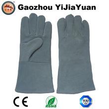 CE EN407 Guantes de trabajo de cuero de la seguridad de la protección de la mano de cuero