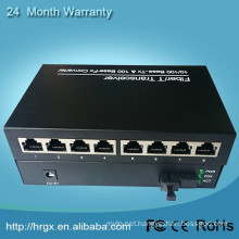 www.aliexpress.com 10/100M 20km sm sf 1 fiber 8 rj45 port in fiber optic equipment