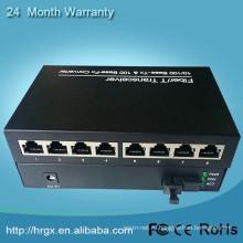 www.aliexpress.com 10/100м 20км см СФ 1 волокна 8 портов RJ45 в оптоволоконное оборудование