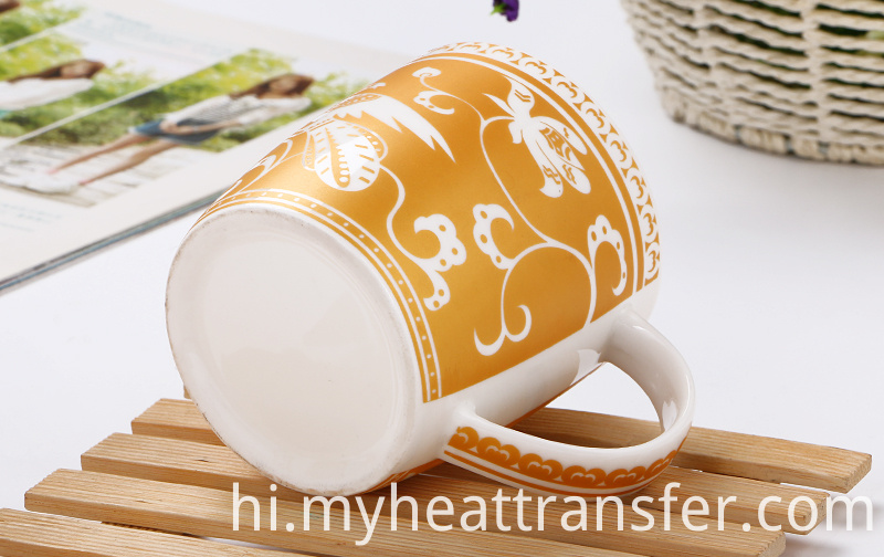 Gold Pattern Ceramic Mug