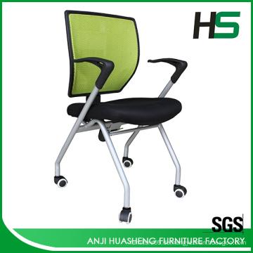 Moderne Farbe maßgeschneiderte Mesh Falten Aufgabe Stuhl mit Rädern