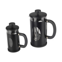 Food GradeStainless Steel Black Frame Glass French Press