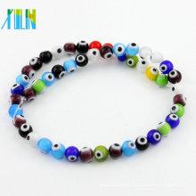 Venda de fábrica boa qualidade mista cor atacado Y0006 bola redonda Turquia mal Eye Jewelry Beads