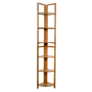 Bamboo 6 tiers  triangle display shelf