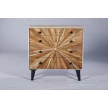 Coffre à tiroirs en bois industriel vintage