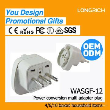 Hight productos de calidad 3 vías estilo alemán socket, ce rohs aprobado inalámbrico dos usb socket