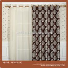 Blackout impreso café cortinas de tela para cocina / hogar / hotel