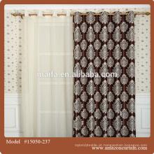 Blackout impresso café cortinas tecido para cozinha / casa / hotel