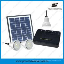 4W 8W Solar Home Beleuchtungssystem mit 1W 2W Lampen