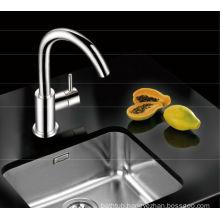 Brass kitchen mixer